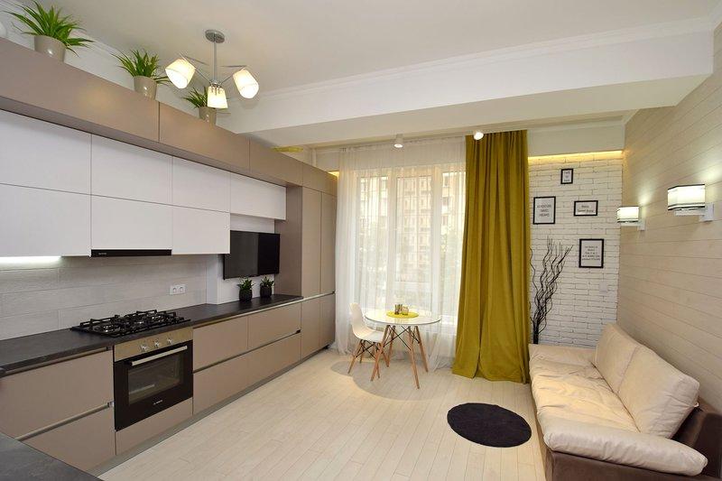 Modern apartment with 1 bedroom and 1 livingroom, alquiler vacacional en Distrito de Chisináu