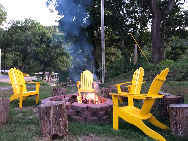 help yourself to wood for a campfire and enjoy the company and the Ozark Mountain Stars.
