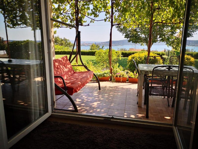Gorgeous Sea View to Split Via Living room, Terrace and our private Garden