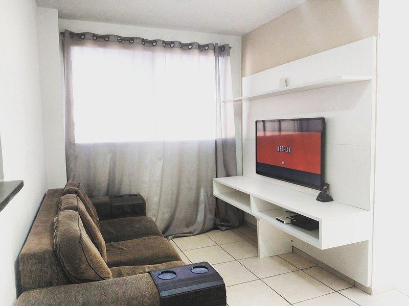 Apartamento mobiliado próximo a Parque olímpico,Deodoro,Vila militar e Madureira, aluguéis de temporada em Nova Iguaçu