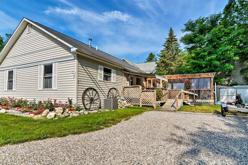 The best of Michigan awaits you at this Suttons Bay vacation rental.