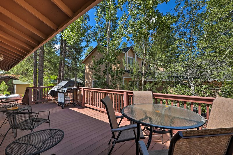 With a furnished deck, this renovated home is sure to impress.