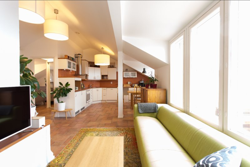 74m2 Penthouse WeHost *Agricolankatu – semesterbostad i Helsingfors