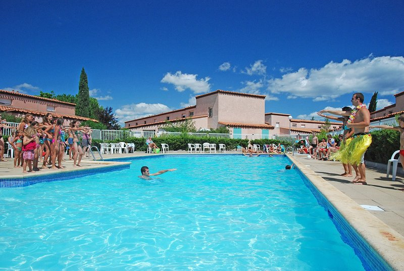 Spend time with family and friends in the outdoor pool during the summer.
