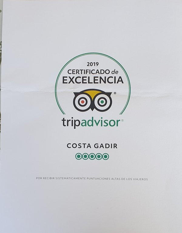 Certificado de ''EXCELENCIA 2019''