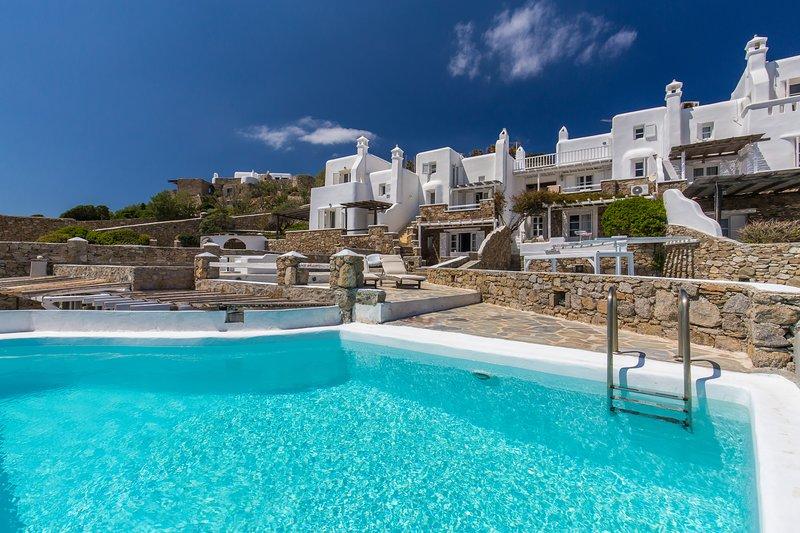 Villa 'Aeracura' - Seablue Villas Mykonos, aluguéis de temporada em Míconos