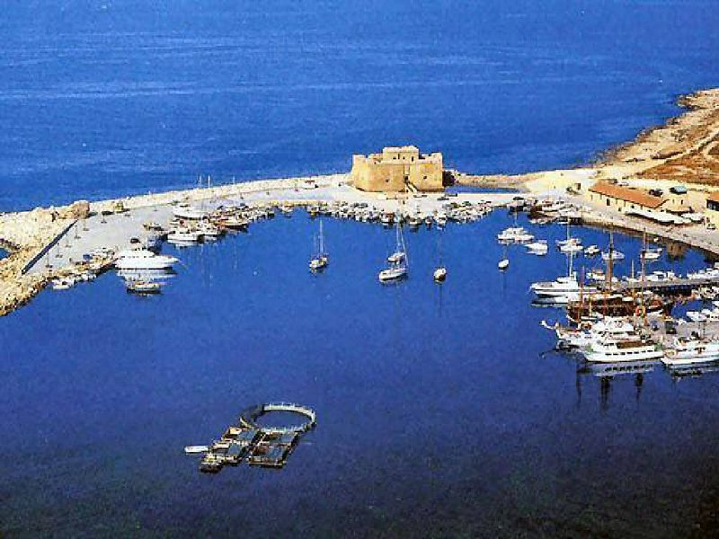 Aerial view of Paphos harbour
