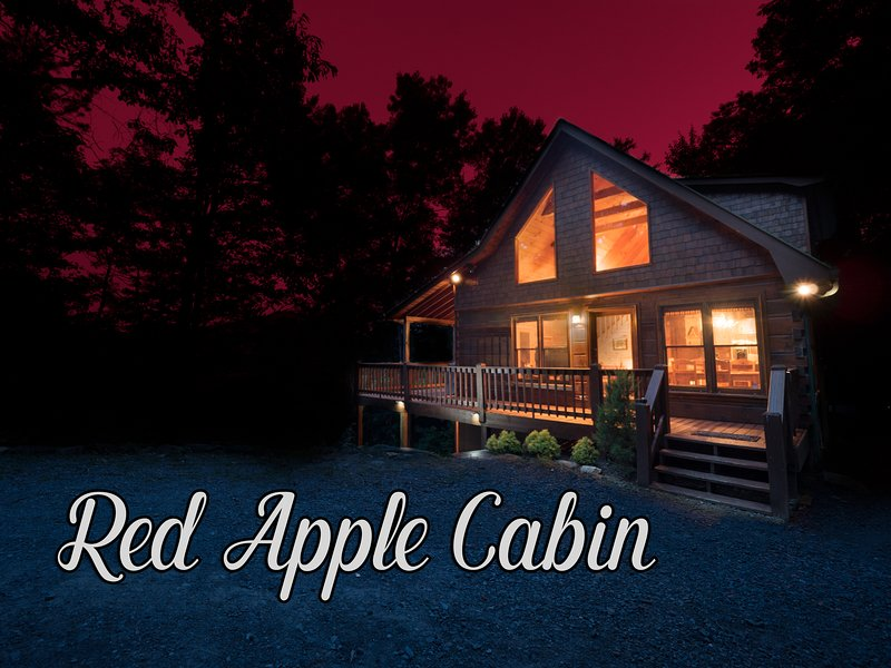 Red Apple Cabin atop the Blue Ridge Mountains Of GA | Spa | Fireplace | 2 acres!, vacation rental in Blue Ridge
