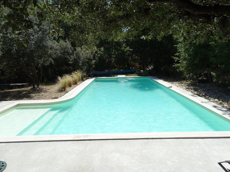 La villa des Vignes. gîte avec piscine en Provence au pied du Mont Ventoux, holiday rental in Mazan