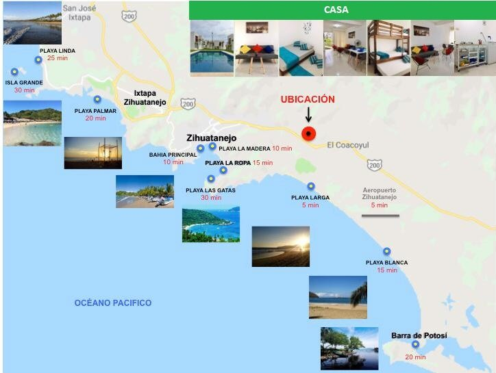 Spiagge adiacenti all'alloggio.