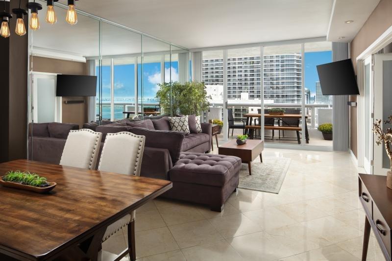 Sala de estar + comedor, ¡un lugar perfecto para escapadas familiares!