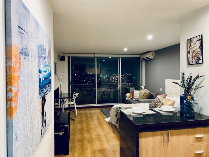 high floor studio balcony doorman AC, holiday rental in Santa Elena