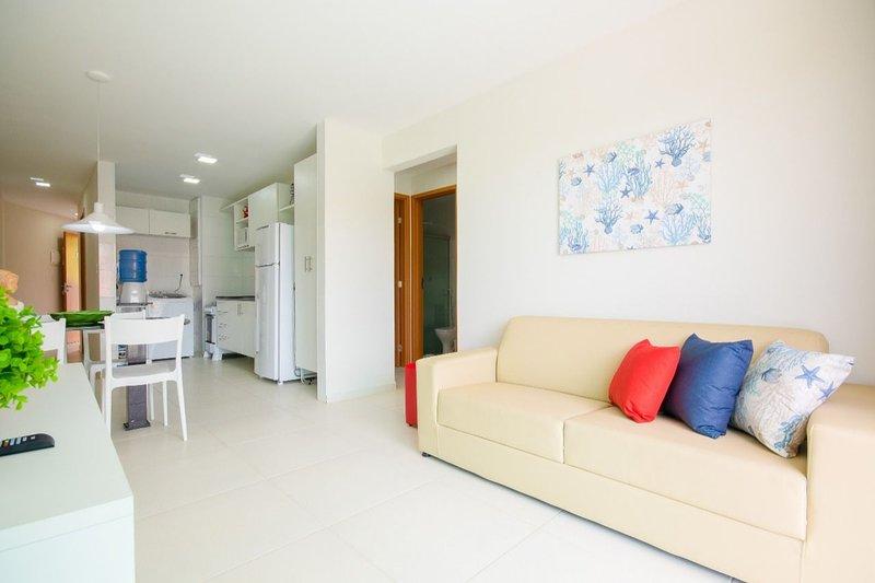 Aquarius Residence - Apto 3 quartos no Centro de Porto (103), alquiler vacacional en Maracaipe