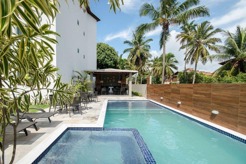 Aquarius Residence - Apto 3 Quartos no Centro de Porto (102*), alquiler de vacaciones en Estado de Pernambuco