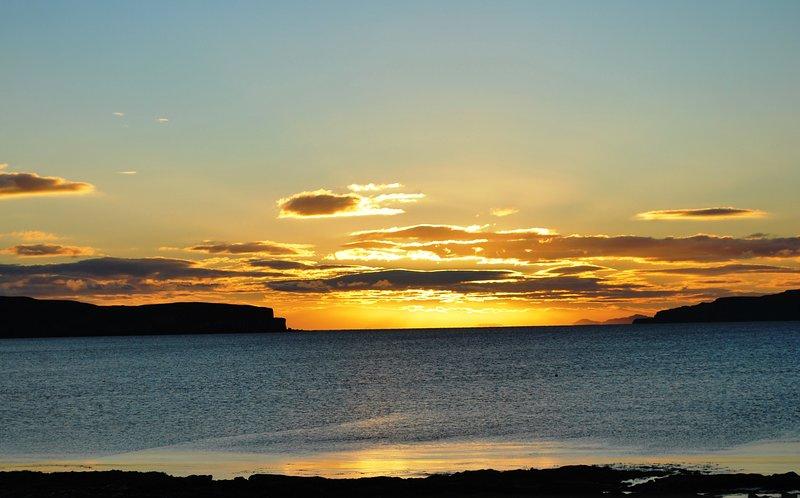 Coucher de soleil sur la baie de Bracadale