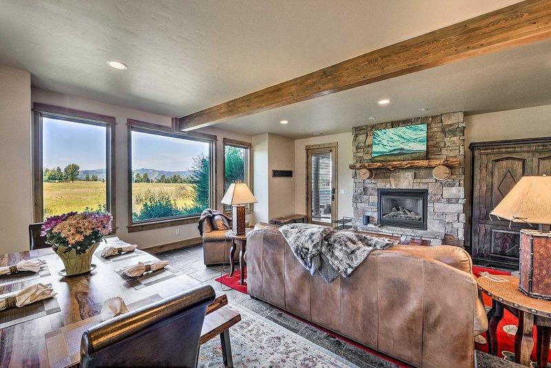 Your Idaho mountain getaway awaits at this Victor vacation rental cabin!