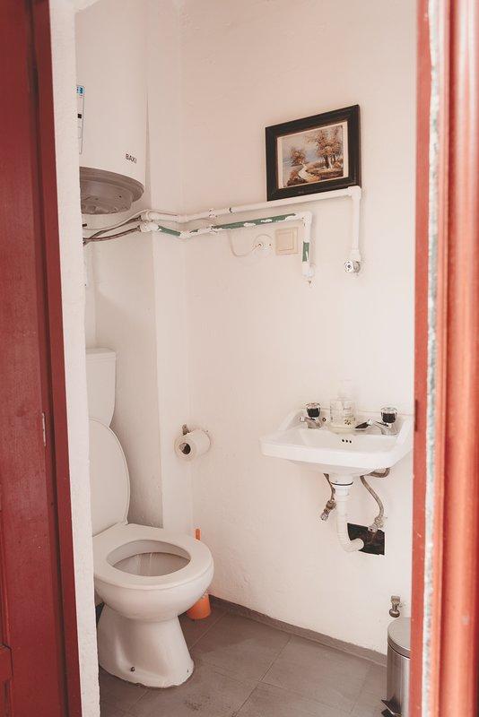 I servizi igienici sono sul balcone. Architettura tipica di Porto!