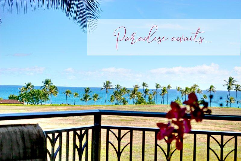 Utsikt över Stilla havet från den rymliga Lanai!