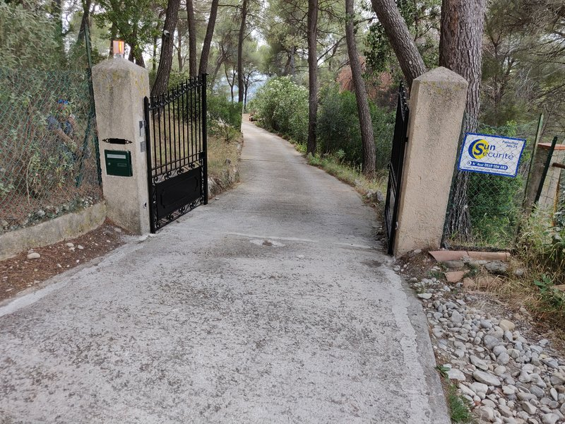 Access to secure property through a portal