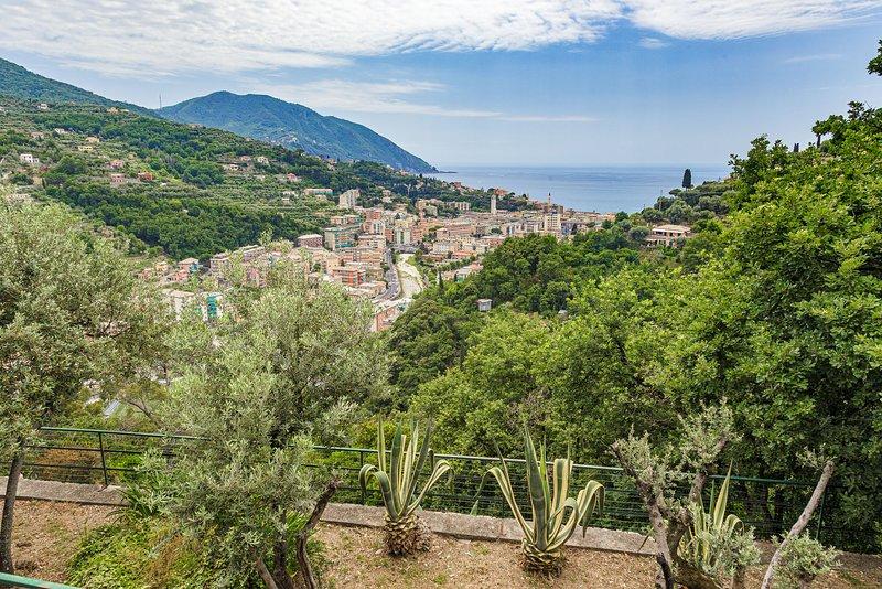 Villa Pia - apart. B - with pool Recco Camogli Cinque Terre, vacation rental in Sori