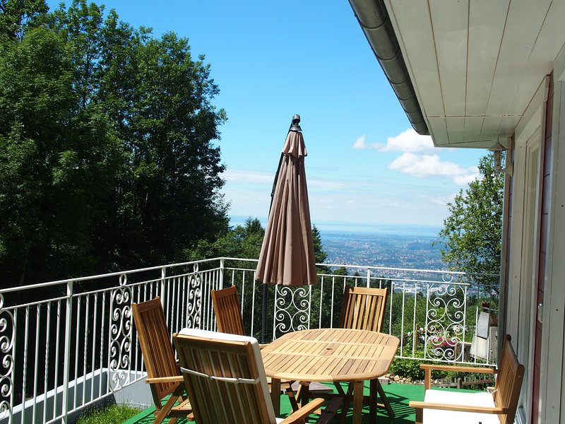 Terrace next to the house overlooking Lake Constance