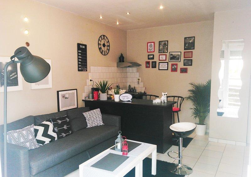 Appartement chaleureux quai de versaille nantes, holiday rental in Treillieres