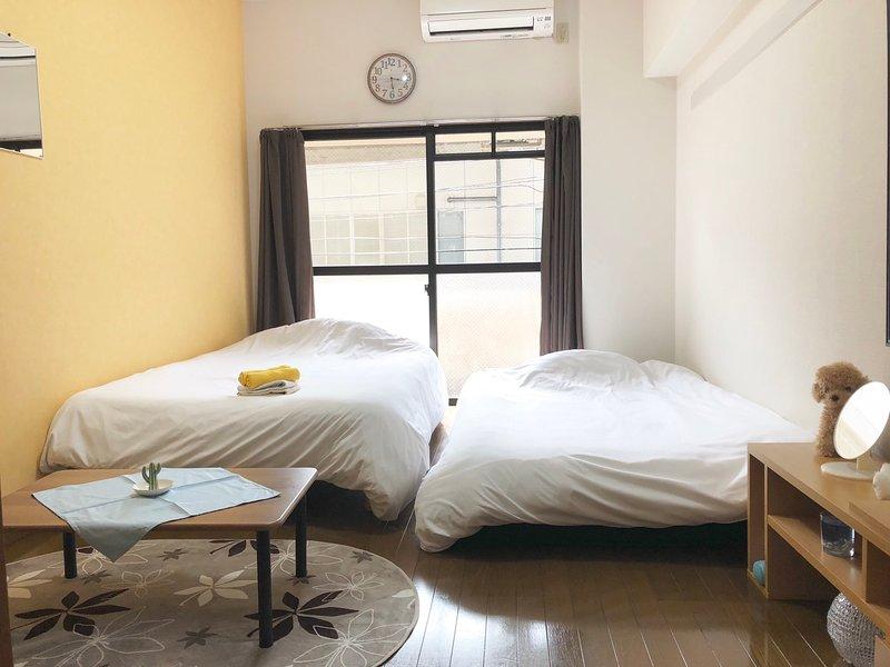 2 minutes to hakata sta. modern western style room #5, location de vacances à Tenjin