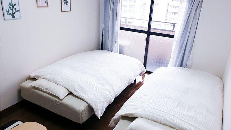 2 minutes to hakata sta. modern western style room #3, location de vacances à Tenjin