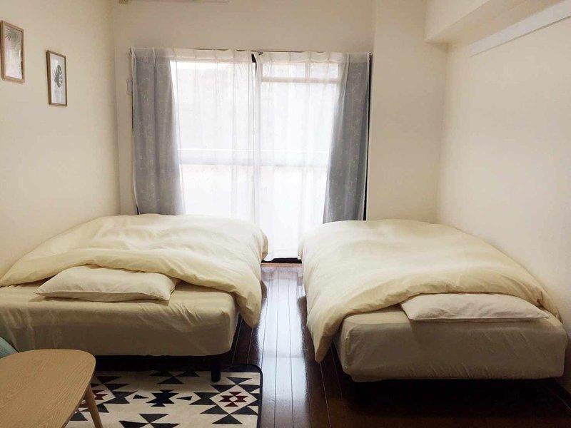 2 minutes to hakata sta. modern western style room #4, location de vacances à Tenjin