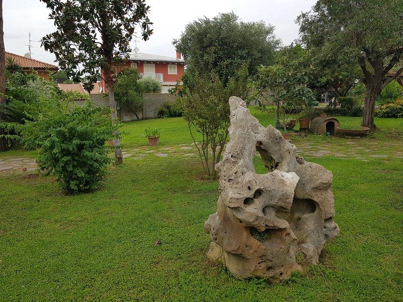 Sidovy av trädgården