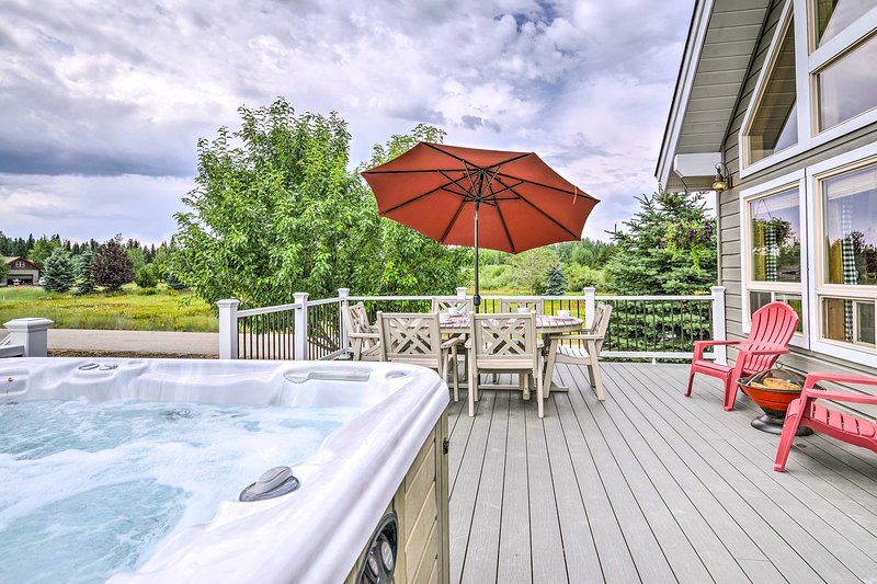Lounge in an Adirondack chair and enjoy the star-speckled sky!