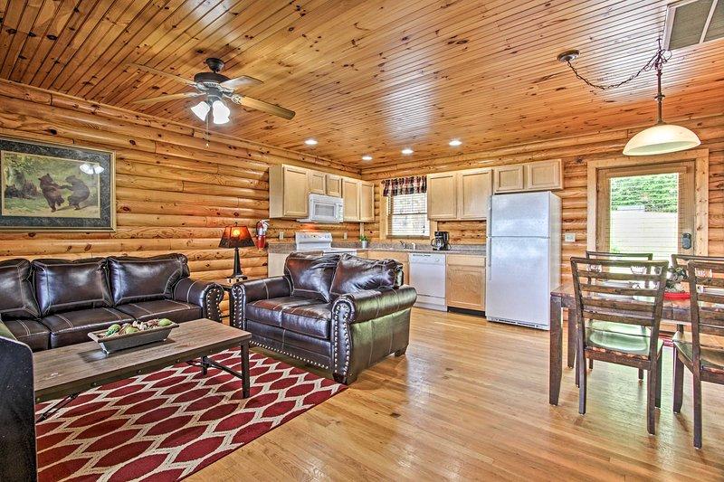 Questa casa vacanza in stile rustico offre 1 camera da letto, 1 bagno e tutto il necessario!