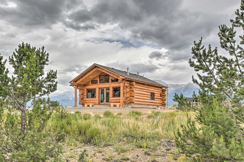 Book your scenic Buena Vista getaway to this pristine 1-bed, 1.5-bath log cabin!