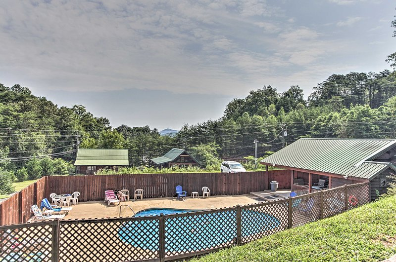 In the summer, enjoy access to Arrowhead Resort's seasonal pool!