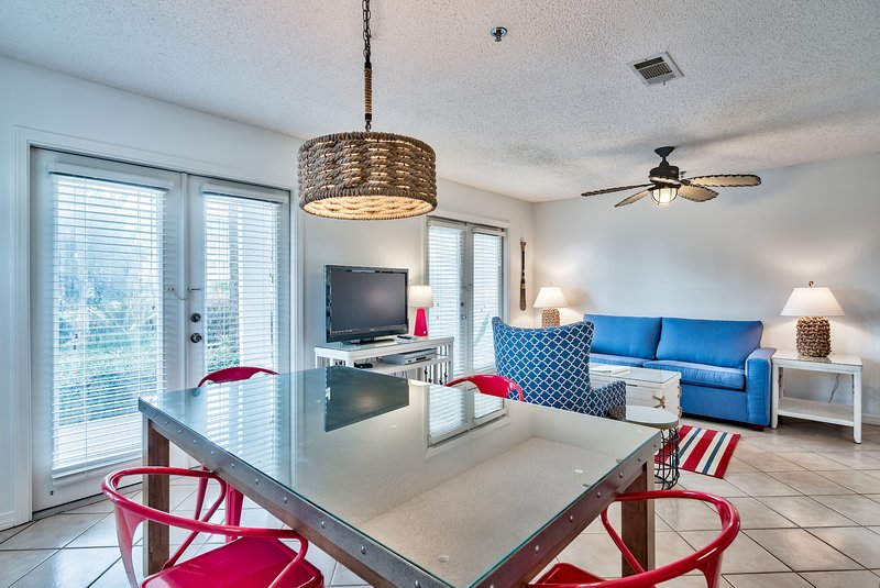 Large living and dining areas