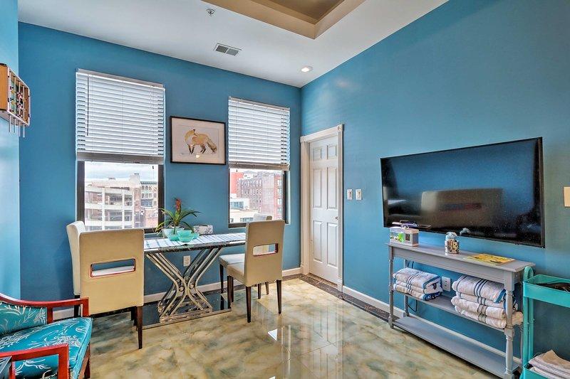 ¡Disfruta de una vida urbana bien equipada en este condominio de alquiler de vacaciones en Filadelfia!