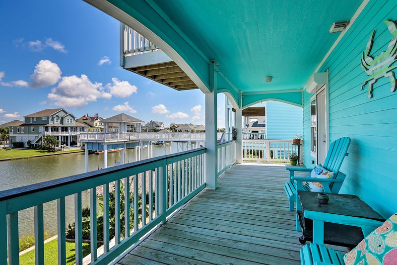 Enjoy easy canal access, multiple decks, a private boat dock, golf cart & more!