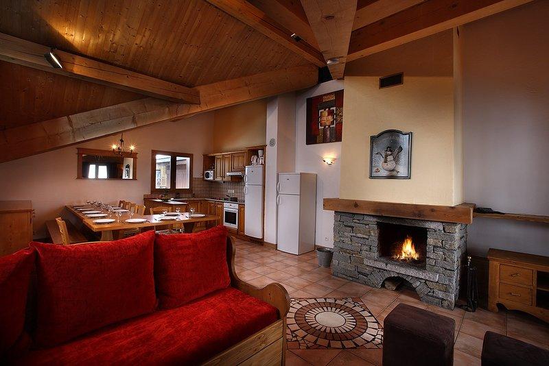 Venha e fique no nosso acolhedor apartamento nas montanhas!