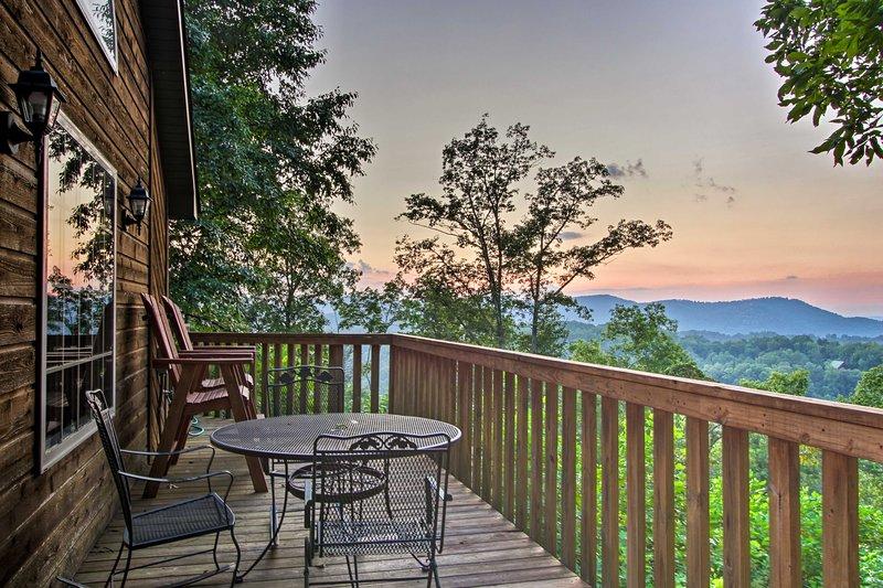 Your romantic getaway begins at this 1-bedroom, 1.5-bath vacation rental cabin!
