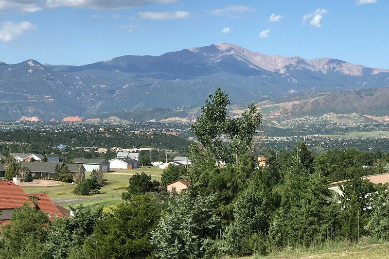 The views are unbelievable from this Colorado Springs area rental!