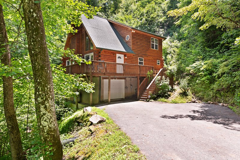 Luxurious cabin w/private hot tub, firepit and great views - dogs allowed!, casa vacanza a Webster