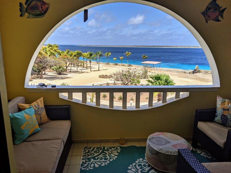 Incredible 5 star Bonaire Ocean front Sand Dollar F-10 newly renovated, alquiler de vacaciones en Kralendijk