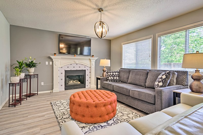 An upscale getaway in Boise awaits at this 4-bed, 2.5-bath vacation rental.