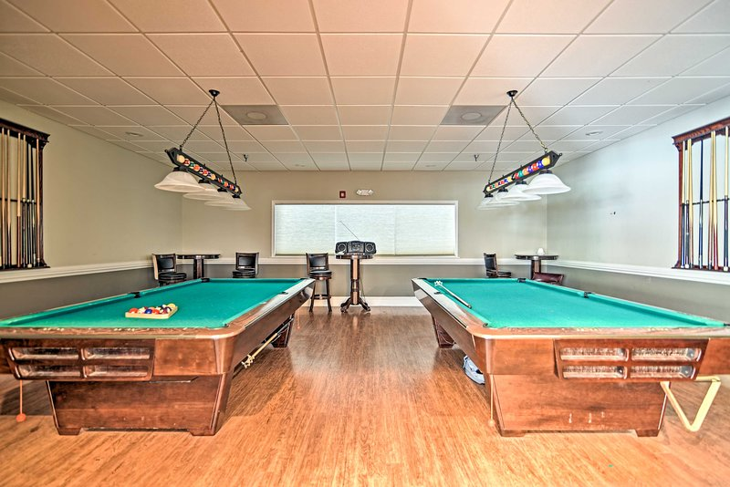 Play a few games of pool before heading to dinner!