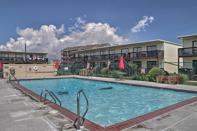 Dive into the community pool just steps away!