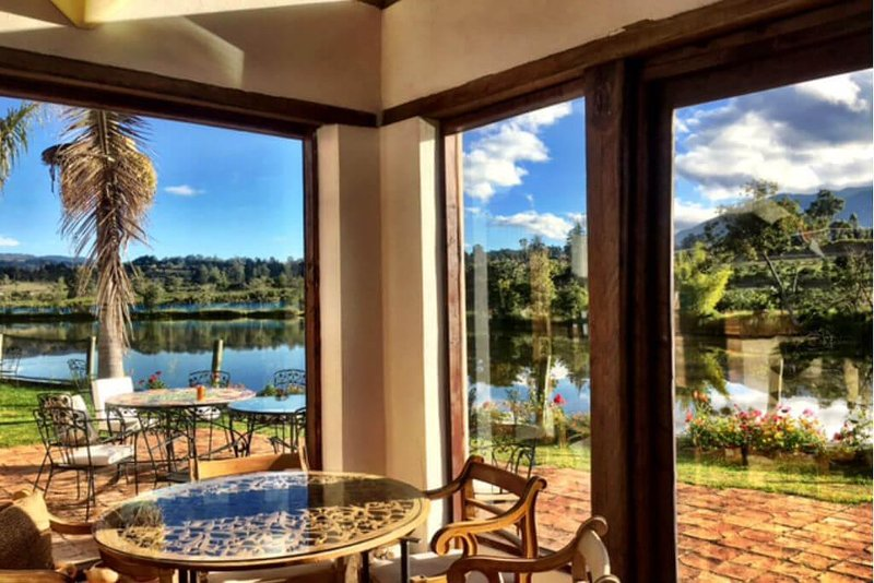 Country house with 5 rooms, lake and mountain view, vacation rental in Tunja