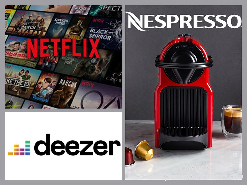 Deezer: access our account Deezer and choose the musical atmosphere that suits you! Netflix: view everything you want! Nespresso: enjoy the morning coffee. Easy. Quick. Effective.