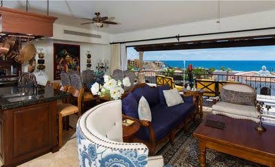 Living room was professionally done and offers a sweeping view of Cabos bay and sunsets!
