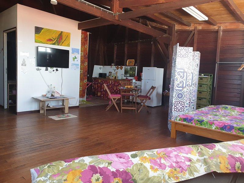 DUPLEX SPACIEUX VUE PANORAMIQUE SUR OCEAN LE MOULE GUADELOUPE, location de vacances à Le Moule