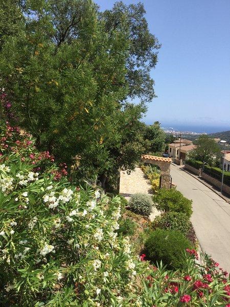Studio avec terrasse jolie  vue mer et montagne, holiday rental in Calonge